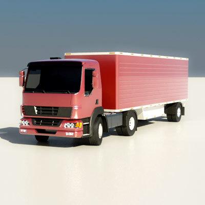 3d model small trailer