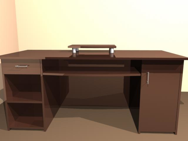 desk wood furnish 3d model