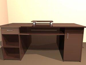 desk wood furnish 3d model