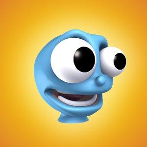 directx blue freaky character head