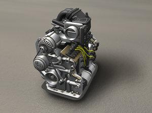 rotary engine 3d model