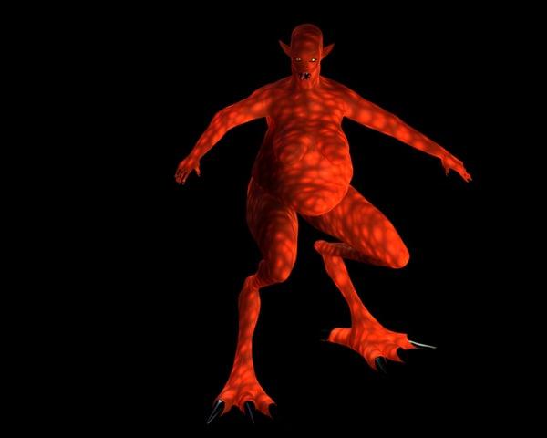 lightwave female character demon