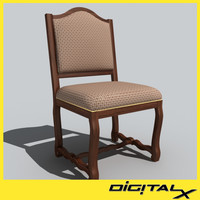 3d model formal dining chair