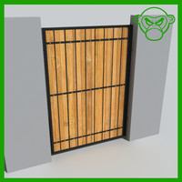 3d outdoor gate model