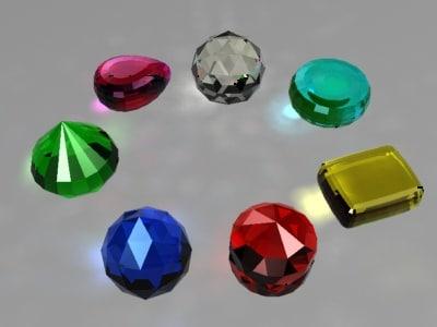 3d gems caustics model
