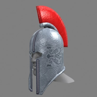 knight helmet 3d model
