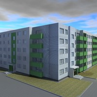 high-def blocks flats 3d obj