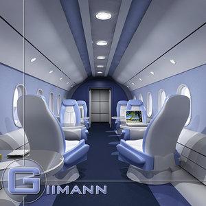 gulfstream business jet interior 3d max