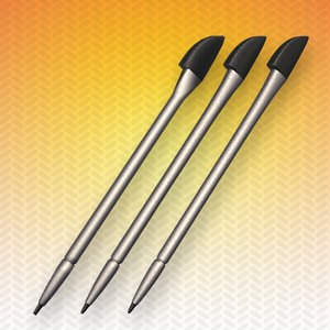 3d model pda smartphone stylus pen