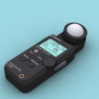 light meter photography 3d model