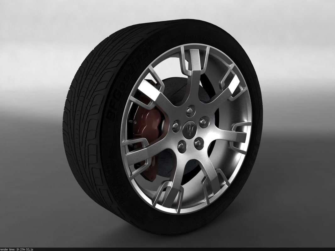 3ds max car wheel maserati granturismo