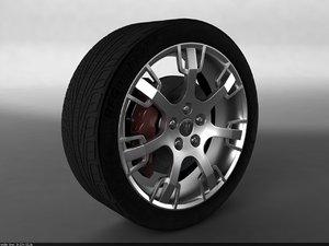 3ds max car wheel maserati granturismo