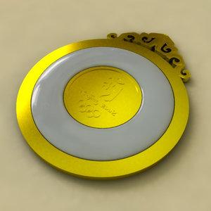 medals xxix olympic games 3d max