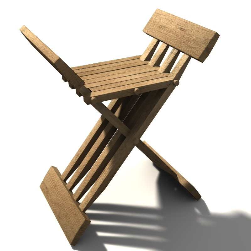 3d 3ds medieval chair