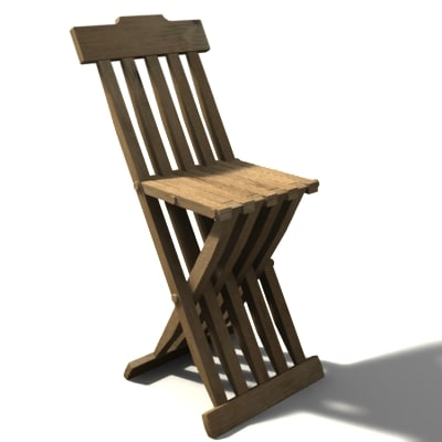 3ds medieval chair