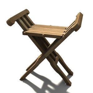3d model of medieval chair