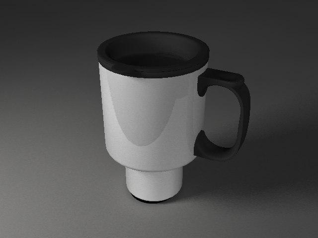 3d metal mug model