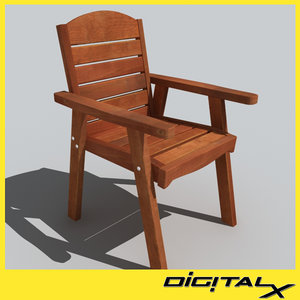 3d outdoor chair model