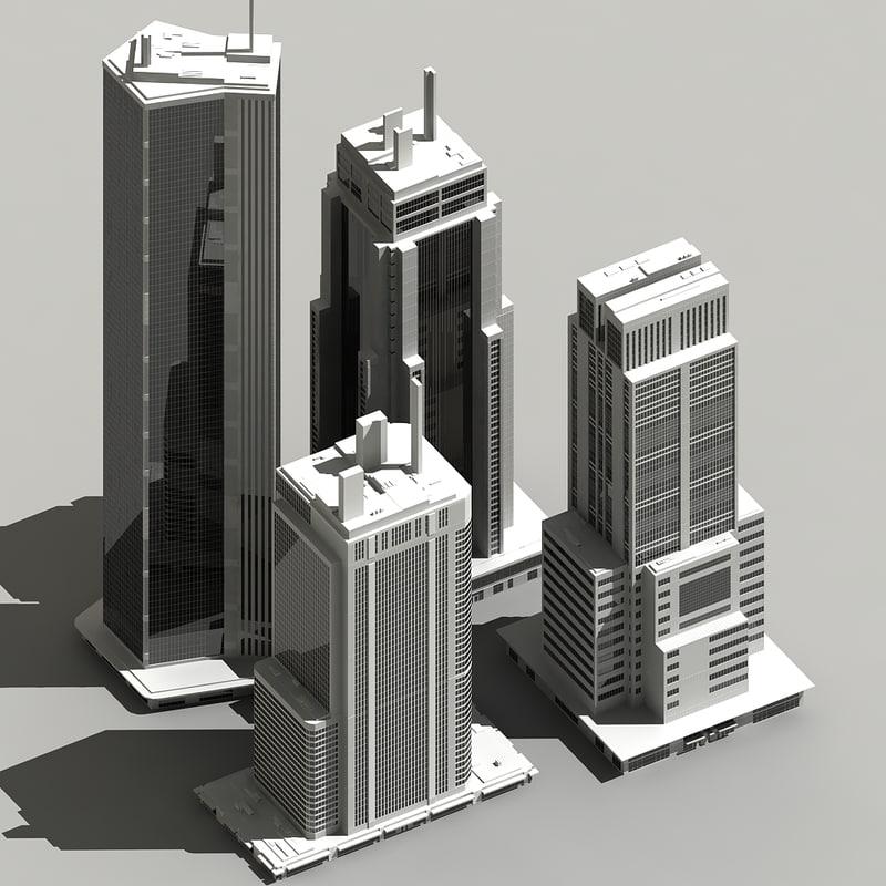 3d ma skyscraper sky scraper