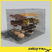 pastry case 3d model