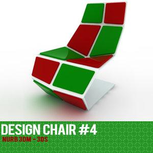 3ds max rhinoceros 4 chair design