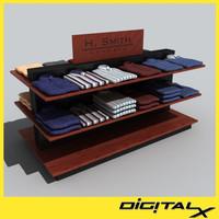 shirt table 1 3d model