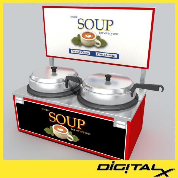soup warmer 3d model