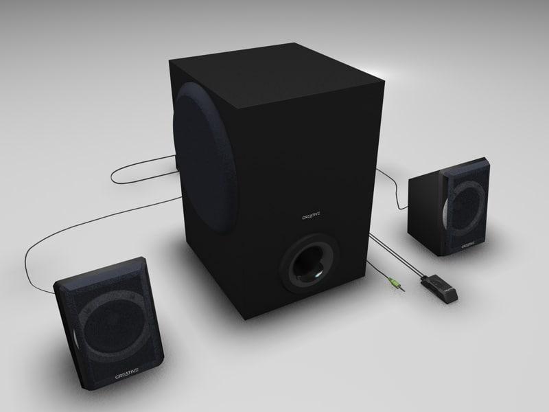 2 1 speaker set 3ds