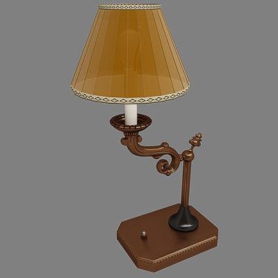3d max torchere standard lamp
