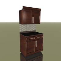kitchen cabinets c4d