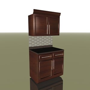 kitchen cabinets c4d