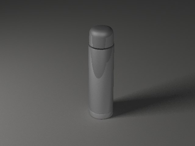 3d model metal thermos