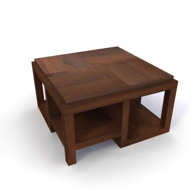 3d model decomai teak bamboo coffee table
