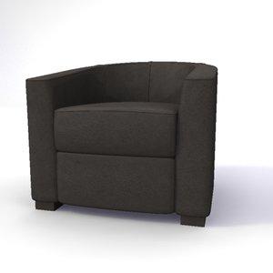 tub chair 3ds