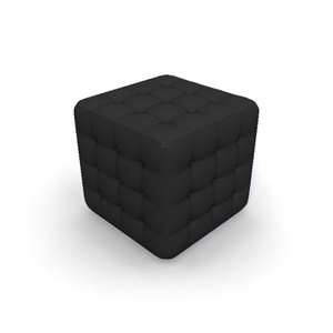 chesterfield footstool 3d model