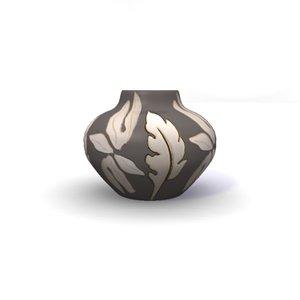 pearl flower vase 3d model