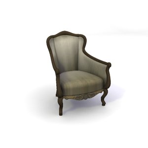 versailles library armchair 3d model