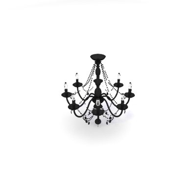 jet black arm chandelier 3ds