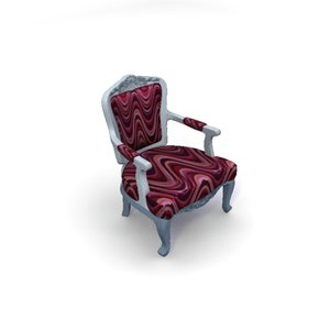 albert armchair 3d model
