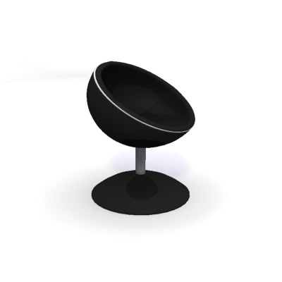 3ds max swivelling tub chair