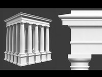 Roman Tuscan column entablement pedestal High/Low