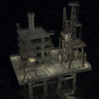 water drilling rig 3d model