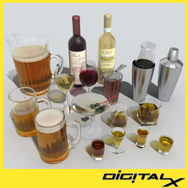 3d booze model