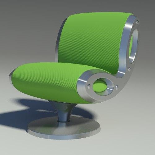 3d gluon armchair