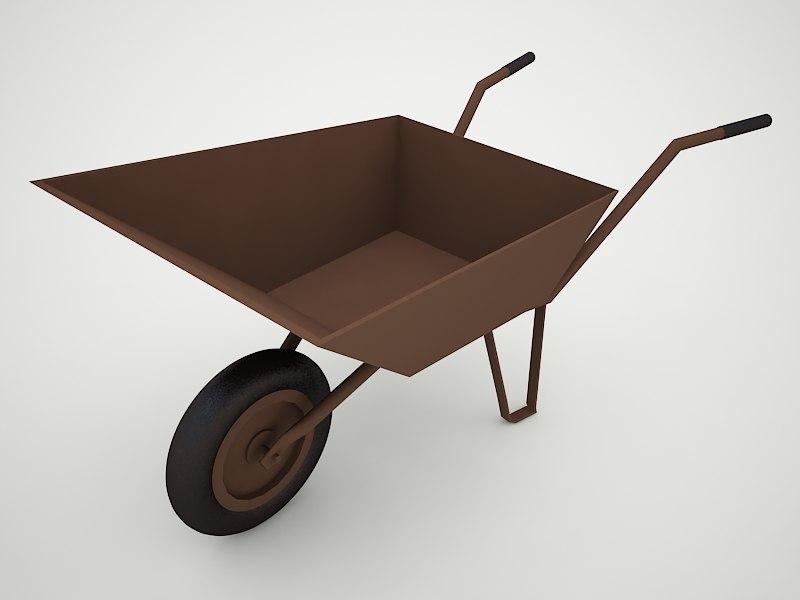 wheelbarrow 3d 3ds