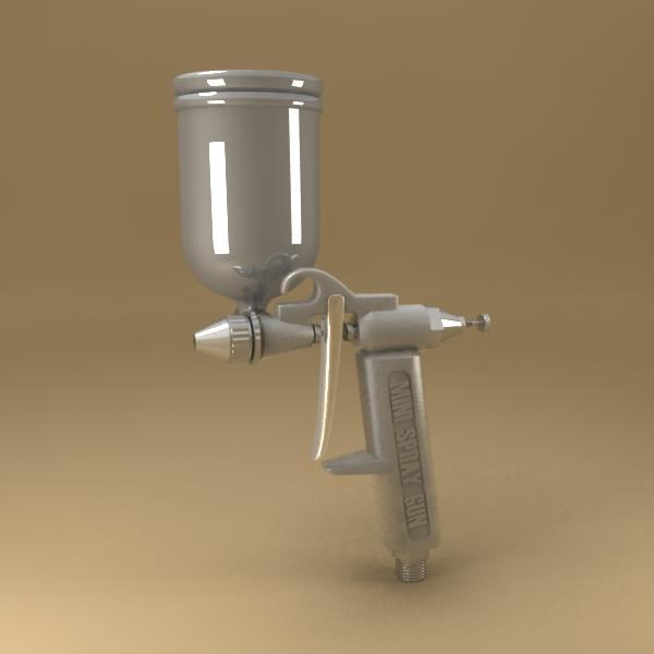 3d model spray gun