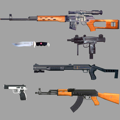 weapon pack 3d max
