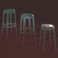 Charles Ghost Collections 3x Chairs