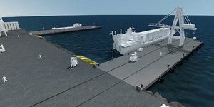 3d model of seaport port