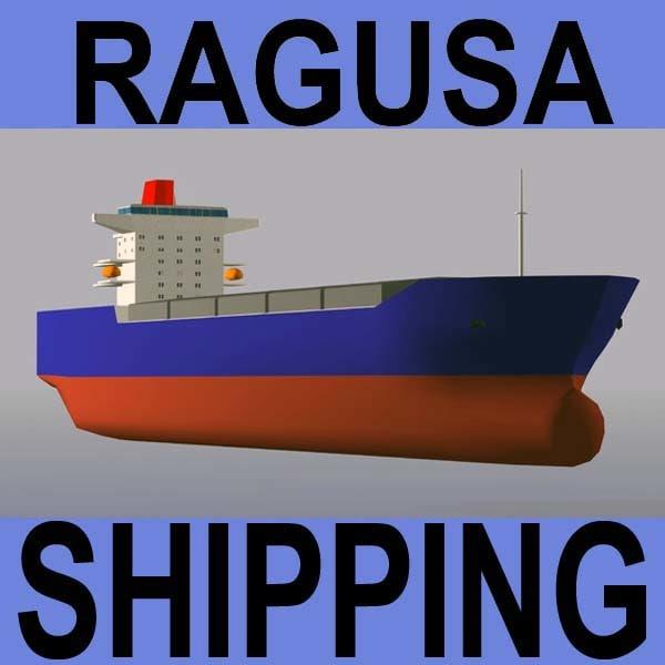 3d model bulk carrier vessel
